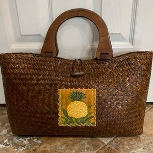 Straw Woven Pineapple Bag